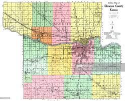 Shawnee Map Kansas 1921 Shawnee County Map Shawnee County Stock Illustration