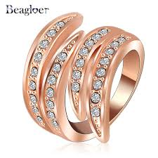 aliexpress buy beagloer new arrival ring gold beagloer newest angel s wing engagement rings with gold plating