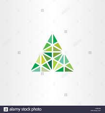 abstract geometric green triangle vector icon design stock vector