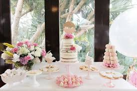 kara u0027s party ideas pretty in pink baptism dessert table party