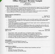 extraordinary design ideas office skills resume 15 manager sample