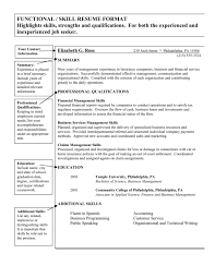skills and qualities on resume how to write a functional or