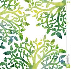 Oak Tree Drawing Nature Background With Oak Tree Branches And Leaves Stock