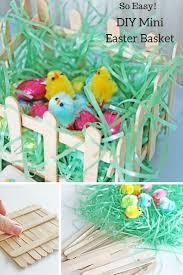 pre made easter baskets for kids simple diy mini easter basket diy crafts kid table and diy