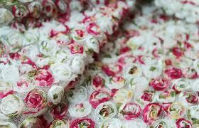 aliexpress com buy shabby chic rosette lace fabric chiffon