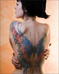 Large Flower Tattoos On - 100 amazing butterfly designs and design