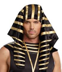 King Tut Halloween Costume Pharaoh Costume Hat Mens Egyptian Roman Greek Black Gold King Tut
