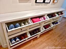 Build Shoe Storage Bench Plans by Best 25 Narrow Shoe Rack Ideas On Pinterest Ikea Shoe Bench