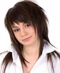 short hairstyles with choppy layers and bangs women medium haircut