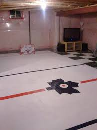 Painted Concrete Basement Floor by Painted Hockey Arena On Concrete Basement Floor House