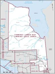 Ontario Canada Map Timmins U2013james Bay Maps Corner Elections Canada Online