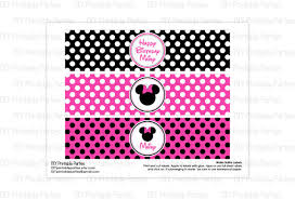 minnie mouse water bottle labels free invs info