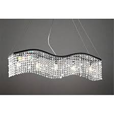 Modern Linear Rectangular Island Dining Room Crystal Chandelier - Dining room crystal chandelier