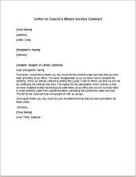 letter to cancel service contract 10 service termination letter