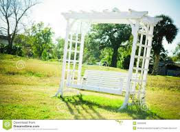 Garden Chair Swing Romantic Garden Bench Swing Royalty Free Stock Photo Image 23196015