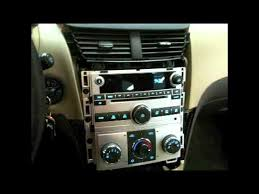 how to 2008 2012 chevy malibu factory radio removal youtube