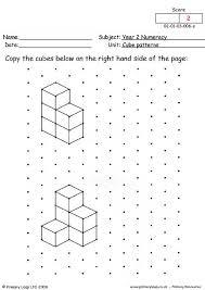 primaryleap co uk cube patterns 2 worksheet
