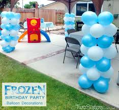 disney frozen balloon decorations two crafting