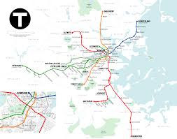 Seattle Link Rail Map Updated Mbta Map Showing Glx U0026 Silver Line Gateway Additions Boston