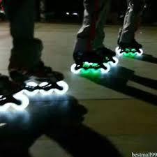 roller skates with flashing lights flashing light pu roller inline sliding flash roller skate wheels