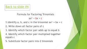 Factoring Trinomials Of The Form Ax2 Bx C Worksheet Answers Chapter 7 Factoring Methods Ms Fisher 7 3 Factoring X Bx C