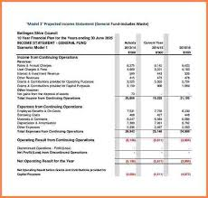 9 projected income statement template statement synonym