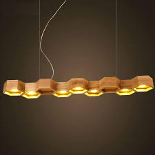 Schoolhouse Pendant Lighting by Discount Slatted Wooden Honeycomb Structure Pilke Series Pendant