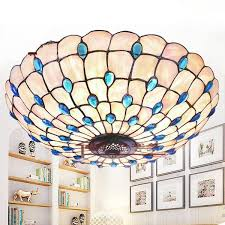 shell ceiling light 2018 creative peacock ceiling l 16 inch 21 inch 24 inch shell