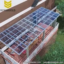 aluminium porch polycarbonate patio cover sunshield shelter