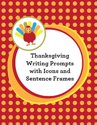 thanksgiving writing with icons and sentence frames astute hoot