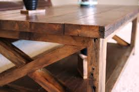ana white rustic x coffee table diy projects