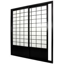 sliding door room dividers oriental furniture 7 ft zen shoji sliding door kit walmart com