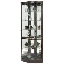 glass corner curio cabinet furniture pulaski sofa vintage curio cabinet dining room display