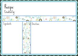recipe page template word free word borders templates