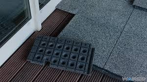 terrace balcony flooring by warco rubber tiles