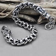 dragon bracelet silver images Men 39 s sterling silver dragon bracelet jpg