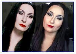 morticia addams realistic makeup tutorial youtube