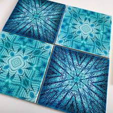 Beautiful Tiles by Contemporary Tiles Mixed Teals Mint Blue Green Tiles Beautiful