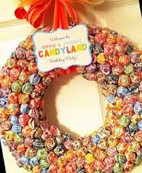 candy wreath candy tricks to spook your trick or treaters