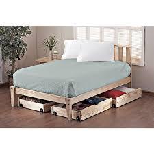 Queen Bed Frame Platform Bedding Shop Beds At Com With King Platform Frame Storage Drawers