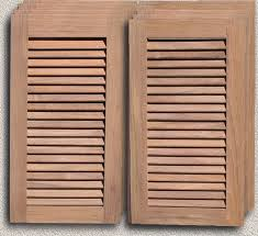 Louvered Cabinet Door Doors Outdoor Kitchen Custom Teak Marine Woodwork