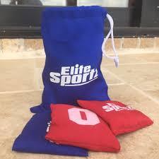 mini bean bag set for our tic tac touchdown corn hole game