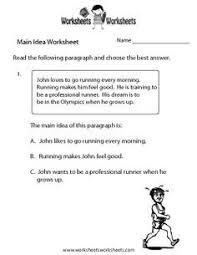 main idea of a story worksheet main idea worksheets and