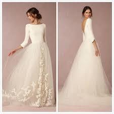 3 4 sleeve bridesmaid dresses new arrival 2016 wedding dresses with 3 4 sleeves vestido de