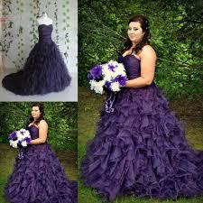 striking purple a line gothic halloween wedding dresses 2015 new