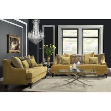 Sofas And Loveseats Sets by Furniture Of America Visconti 2 Piece Premium Velvet Sofa And