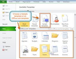 Office Excel Templates Excel 2010 Templates Page