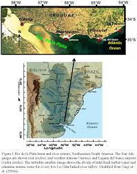 Parana River Map Sea Level Trends Along Freshwater And Seawater Mixing In The