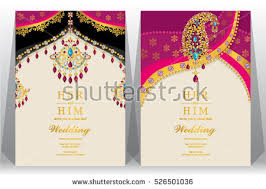 Indian Wedding Card Template Indian Wedding Card Gold And Crystals Color Indian Wedding