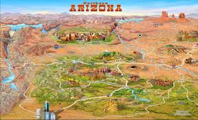 Arizona Zip Code Map by Northern Arizona Attractions Map Arizona U2022 Mappery
